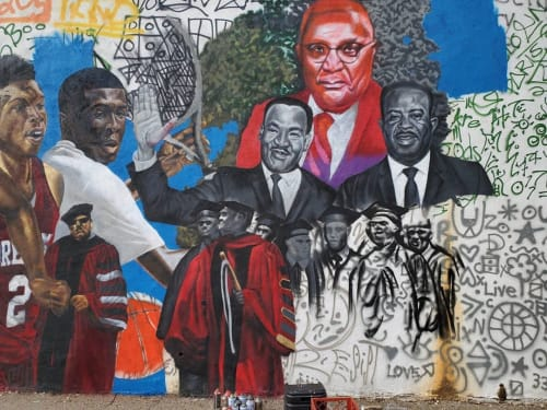 Murals by Occasional Superstar seen at Morehouse College, Atlanta - Morehouse Mural