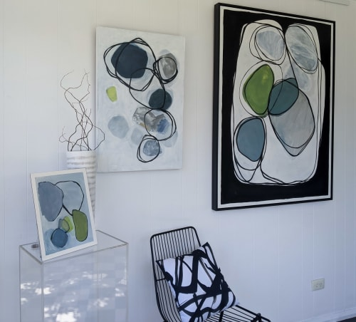 Paintings by Claire Cavanna seen at Creator's Studio, Sydney - Rhythm of the Land with a little help from Kintsugi