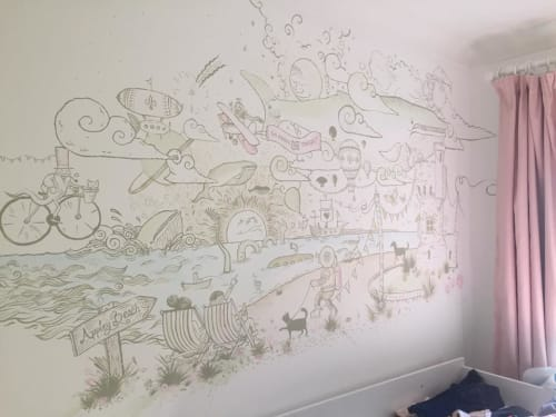 Murals by Chiba Creative seen at Isle of Wight - Bedroom mural