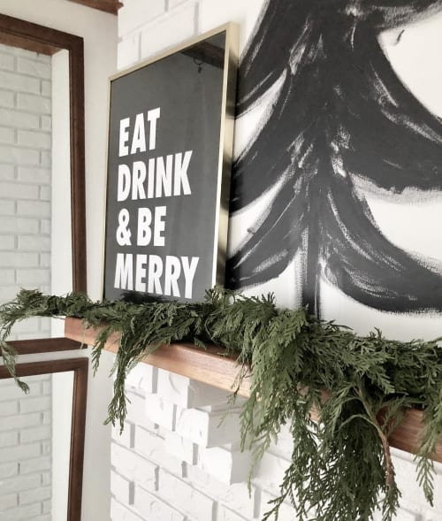 Wall Hangings by BT Design Co. seen at Kate Chipinski's Home, Minneapolis - Eat Drink & Be Merry