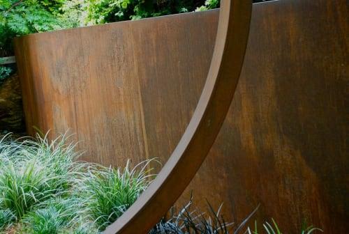 Plants & Landscape by Living Green Design seen at Private Residence, Kentfield - Cor Ten Zen Garden