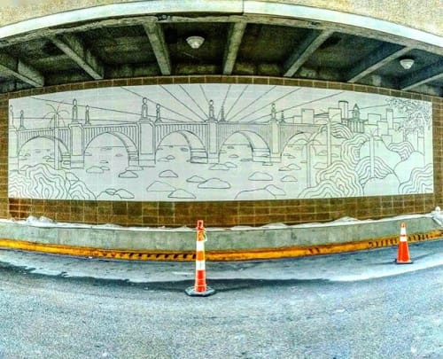 Street Murals by Christine Lutfy | Phunky Artz seen at 1233 Washington St, Columbia - Gervais Sunrise