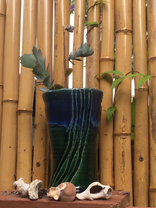 Vases & Vessels by Solana Beach Pottery seen at Private Residence, San Clemente - Kelp Forest Vases