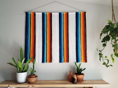 Wall Hangings by TEXTURES BY JULIANNE seen at Springfield, Springfield - Retro Serape Wall Hanging