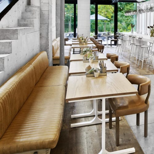 Chairs by Louis Interiors Inc. seen at 1 Hotel Brooklyn Bridge, Brooklyn - Banquettes and dining chairs