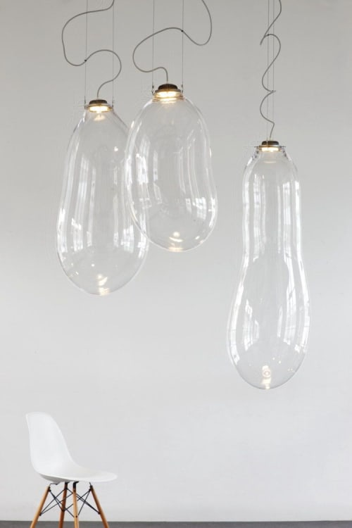 Pendants by Alex de Witte seen at Creative Valley Papendorp, Utrecht - Transparent Bubbles