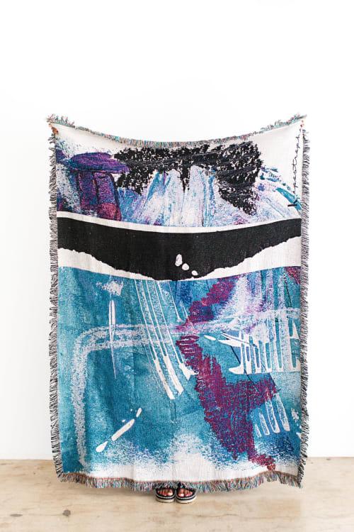 "Linens & Bedding by K'era Morgan seen at Creator's Studio, Los Angeles - ""Manchas & Marks"" Woven Throw"