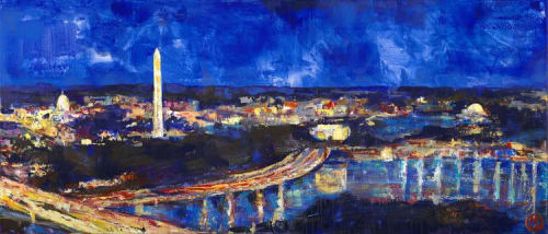 Paintings by Maggie O'Neill seen at MGM National Harbor, Oxon Hill - Murphy's Nighttime Drive