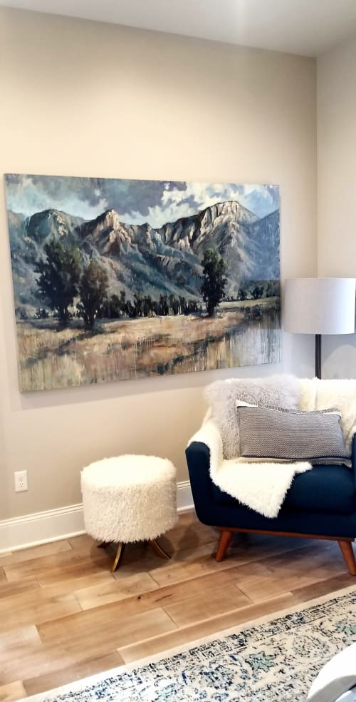 Paintings by Sonja Caywood seen at Private Residence - Bighorn Mountains