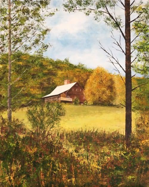 Vermont home painting   Paintings by Stephanie Thwaites