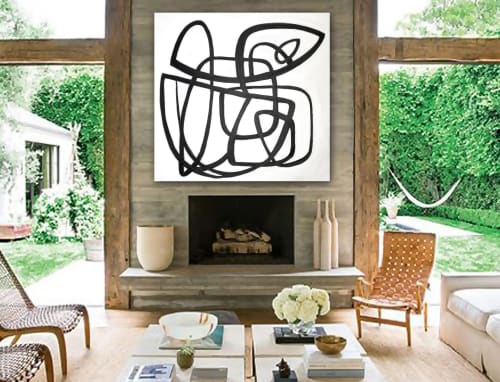 Paintings by Linnea Heide contemporary fine art seen at Private Residence, Paris - 'ALCHEMY' original abstract painting by Linnea Heide