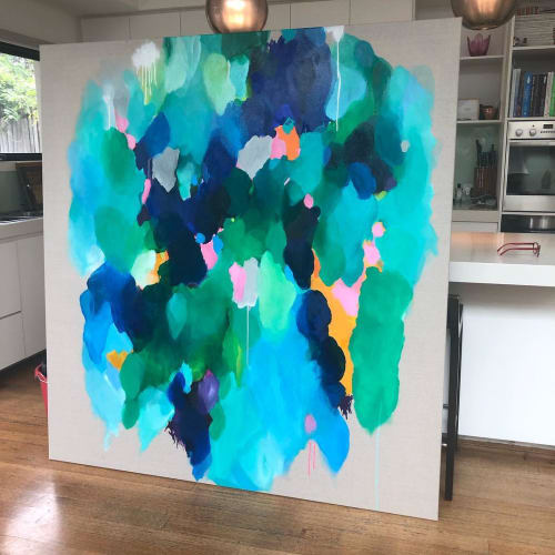 Paintings by Art Moona seen at Dody Oliver Catering, Caulfield - Commissioned Art Piece