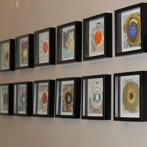 Wall Hangings by Robin Chuter seen at Home House, London - Vinyl Art Collection