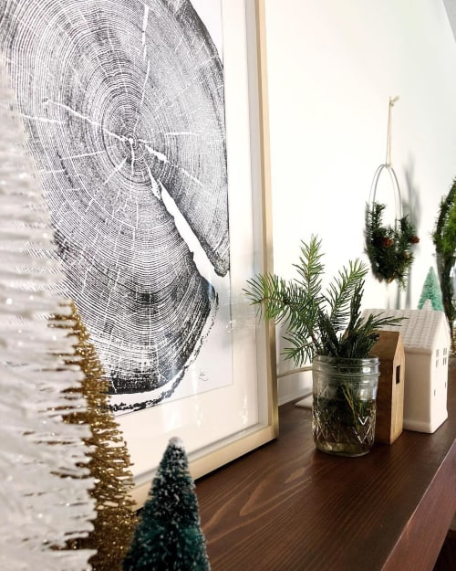 Wall Hangings by Erik Linton seen at Private Residence, Jacksonville - Tree Ring Prints