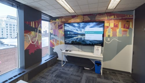Murals by Ankhone - Ampme Meeting Room Mural