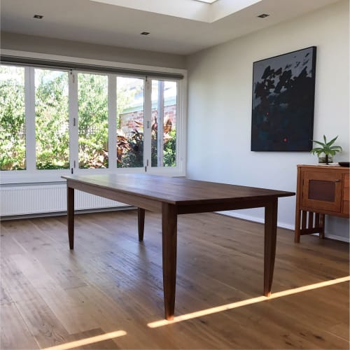 Tables by Bern Chandley seen at Private Residence, Melbourne - Walnut Dining Table