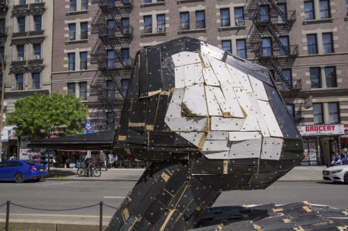 Public Sculptures by Nicolas Holiber seen at Broadway/W 139 St, New York - Hooded Merganser