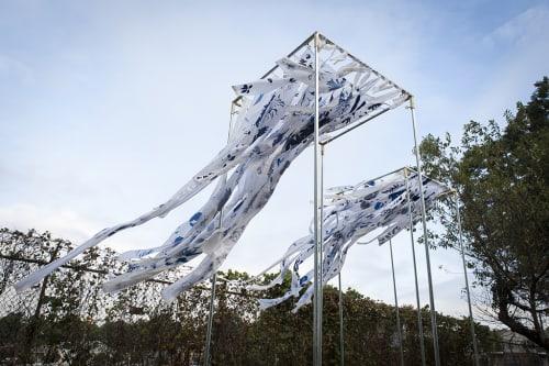 Public Sculptures by Rose M Barron at BeltLine Shed, Atlanta - Botanical Dwellings