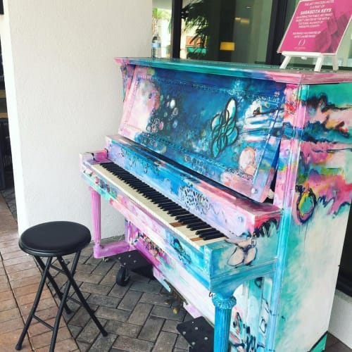 Art & Wall Decor by Laurie Maves ART seen at Art Ovation Hotel, Autograph Collection, Sarasota - Painted Piano