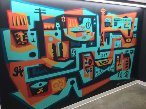 Murals by Brian Barneclo seen at Google - San Francisco, San Francisco - Google mural