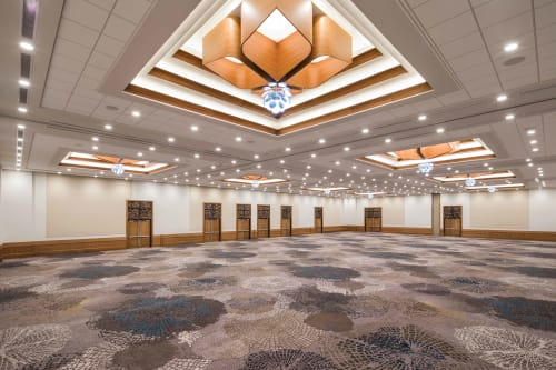 Chandeliers by Laspec Lighting -- Custom Lighting, Made in LA at The Westin Cape Coral Resort at Marina Village, Cape Coral - Wooden Flower Motif Custom Chandeliers