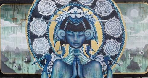 Murals by Hans Haveron seen at Du Du Bao Lounge, ตำบล มะเร็ต - Thai Goddess Mural at Du Du Bao