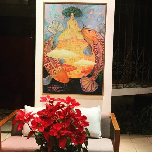 Paintings by Xavix seen at Private Residence, San Salvador - Old Series Painting