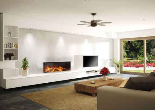 Fireplaces by Electric Modern seen at Private Home, Middleton - E40: Single-Sided Electric Fireplace