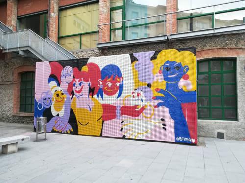 Murals by Gemma Fontanals seen at Torelló, Torelló - Per tu i per mi