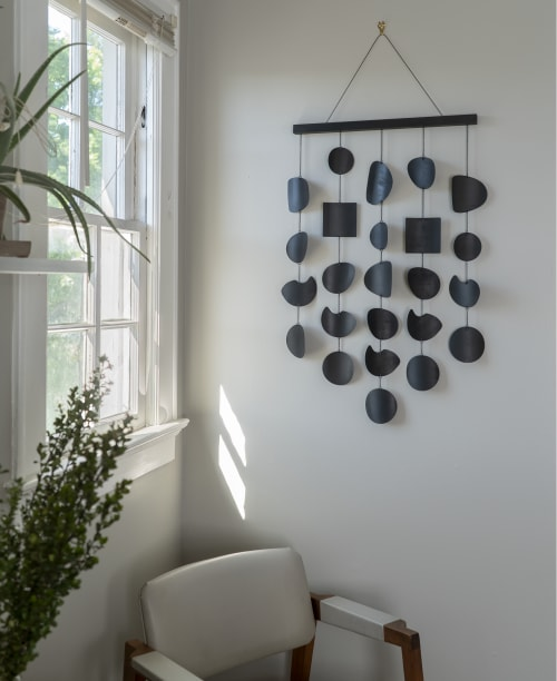 Sculptures by Circle & Line - Sediment Wall Hanging in Black Patina