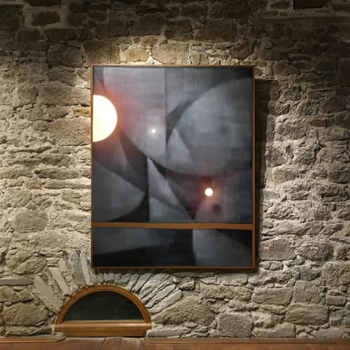 Paintings by BiMS seen at Private Residence - Plutonian lights
