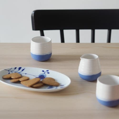 Cups by Justine Jenner Pottery seen at That Scandinavian Feeling, Monza - Espresso Cups and Jug