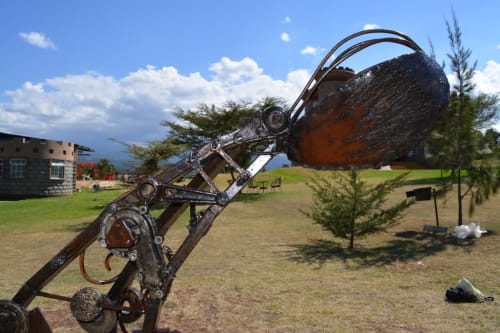 Public Sculptures by Maggie Otieno seen at Tafaria Castle & Country Lodge, Ndaragwa - Last of the Keep