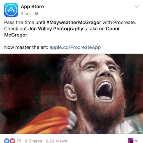 Paintings by WilleyArt seen at Apple Infinite Loop, Cupertino - The Big Fight