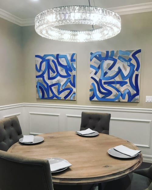 Paintings by COCO NELLA seen at Pasadena, CA, Pasadena - Abstract paintings for home stager