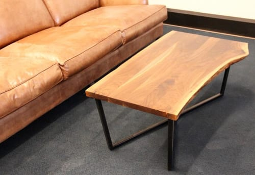 Tables by Long White Beard Furniture seen at TechTown Detroit, Detroit - Live edge Coffee Table