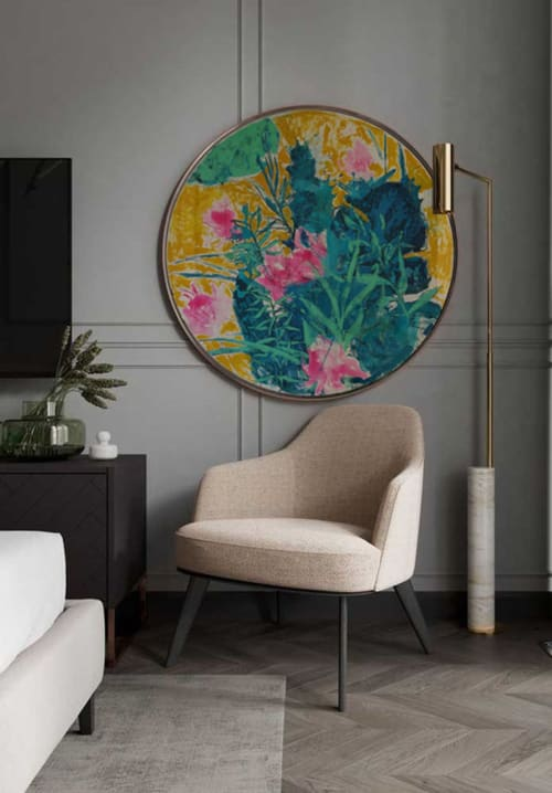 Paintings by Glib Franko seen at Private Residence, Paris - Tropic