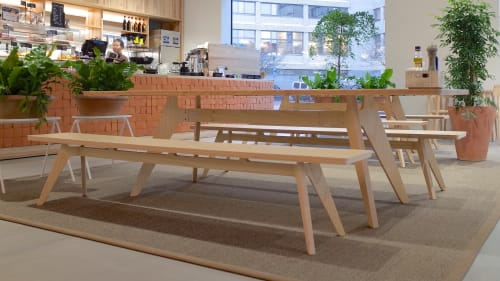 Benches & Ottomans by Poiat Studio seen at Industrigatan 1, Helsingfors - Lavitta Bench and Lavitta Dining Table
