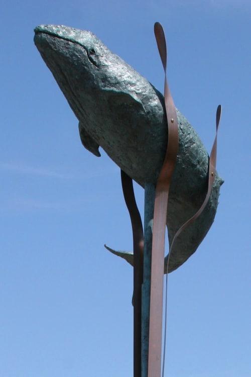 Public Sculptures by Cinthia Joyce Fine Arts seen at Rancho Palos Verdes, Rancho Palos Verdes - Pacific Gray Whale