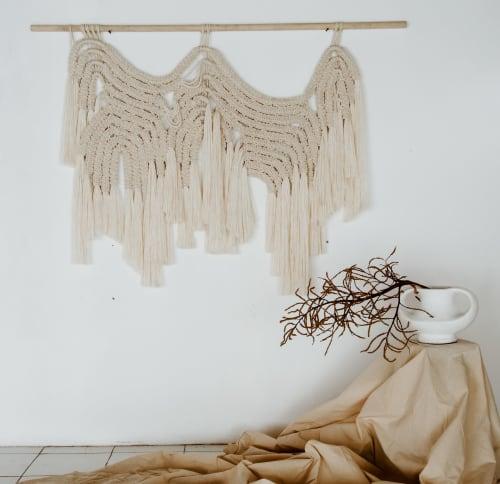 Macrame Wall Hanging by Ranran Design by Belen Senra - Organic Macrame Fiber Art Wallhanging