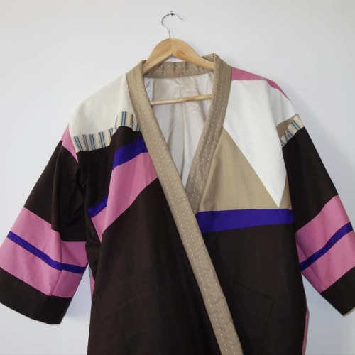 Apparel & Accessories by DaWitt seen at Daniela Witt Studio, Leipzig - colourful patchwork jacket