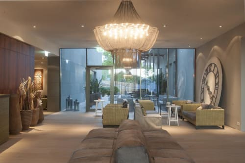 Chandeliers by willowlamp seen at Seerose Resort & Spa, Meisterschwanden - Flower of Life