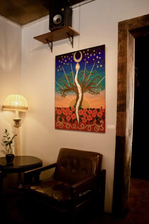 Paintings by Jillian Selene Art seen at Shades of Brown Coffee & Art, Tulsa - Kundalini