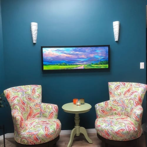 Paintings by Melanie Morstad Studio seen at Private Residence - Prairie Painting