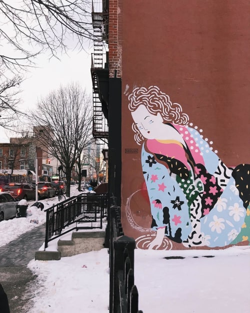 Street Murals by Brolga at Williamsburg, Brooklyn - Williamsburg Mural