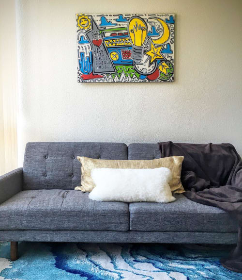 Paintings by Elliott C Nathan seen at Private Residence, San Francisco - Abstract painting