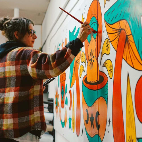 Murals by Olivia Di Liberto seen at Squamish, Squamish - Indoor Mural
