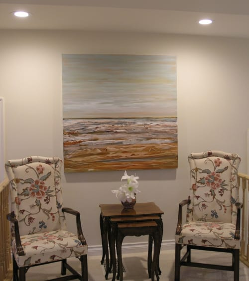 Paintings by Loretta Kaltenhauser Contemporary Fine Art seen at Private Residence, Cobourg - On the Beach