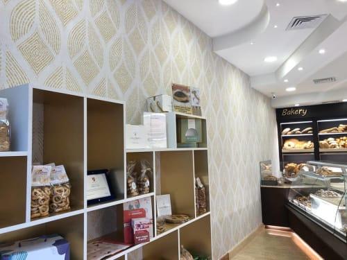 Wallpaper by Affreschi & Affreschi seen at Panificio Casa Priolo, Bojano - Geometric Wheat