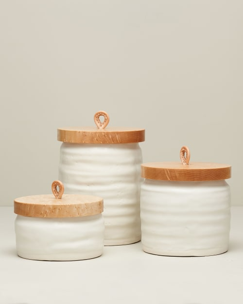 Tableware by DBO HOME seen at Private Residence, Tivoli - Bare Lidded Vessel
